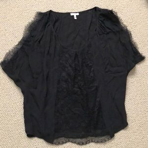 Joie silk & lace top